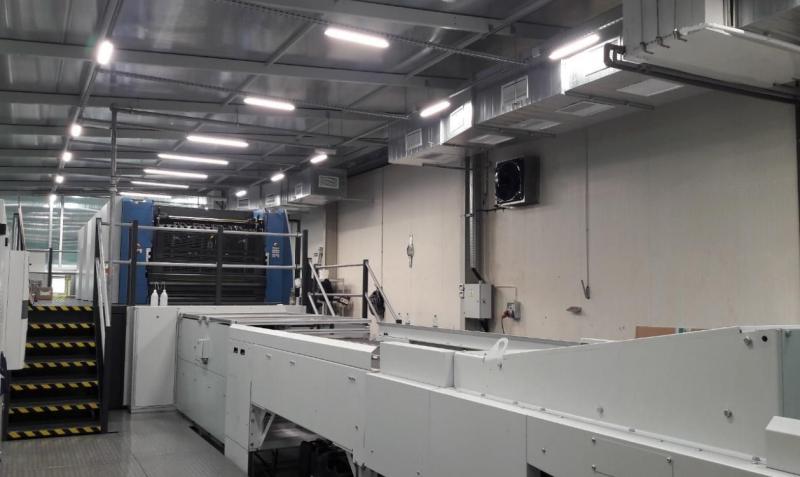 OPAKOFARB pomieszczenie nowej linii drukującej