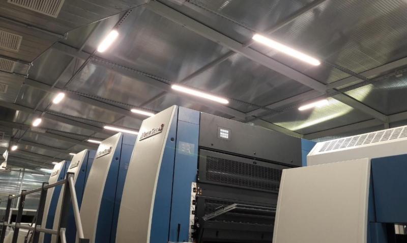 OPAKOFARB pomieszczenie nowej linii drukującej RA90
